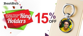 15% Discount for New Mobile Phone Sublimation Ring Holders from BestSub