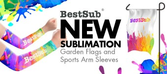 Sublimation Garden Flags and Sports Arm Sleeves from BestSub