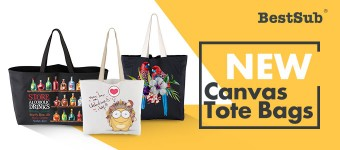 New Fabulous Canvas Tote Bags from BestSub