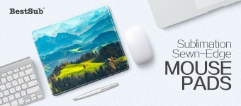 Sublimation Sewn-Edge Mouse Pads from BestSub