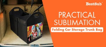 Practical Sublimation Folding Car Storage Trunk Bag from BestSub