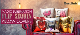 Magic Sublimation Flip Sequin Pillow Covers from BestSub