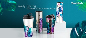Lovely Spring Stainless Steel Water Bottles from BestSub