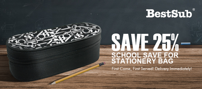 25% Back-to-School Save for Stationery Bag from BestSub