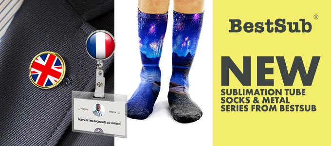New Sublimation Tube Socks & Metal Series from BestSub