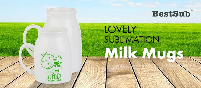 Lovely Sublimation Milk Mugs from BestSub