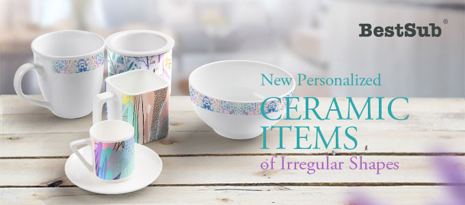 New Personalized Ceramic Items of Irregular Shapes from BestSub