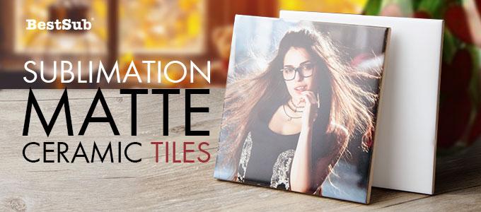 Sublimation Matte Ceramic Tiles from BestSub