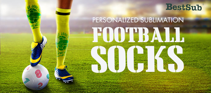 Personalized Sublimation Football Socks from BestSub