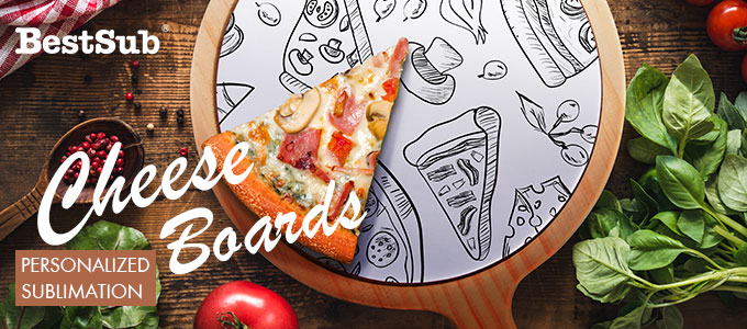 Personalized Sublimation Cheese Boards from BestSub