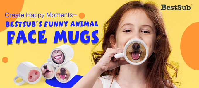 Create Happy Moments—BestSub Funny Animal Face Mugs