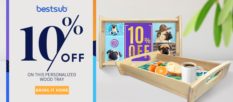 10% off on this Personalized Wood Tray