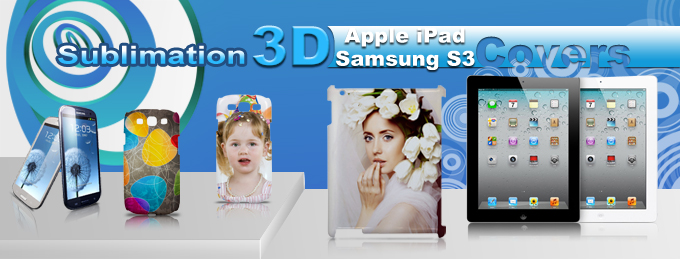 Sublimation 3D Samsung S3 &Apple iPad Covers from BestSub