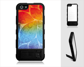 iPhone 5 Cover with Stand(Plastic,Black)