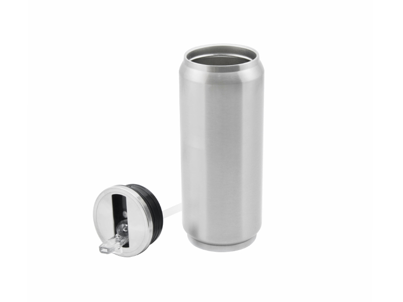 17oz stainless steel coke can with straw silver free for Coke can heater