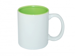 11oz Two-Tone Color Mugs - Light Green