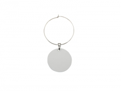 28mm Wine Glass Charm(Round)