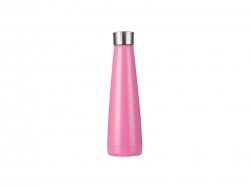 14oz/420ml Stainless Steel Pyramid Shaped Bottle (Rose Red)