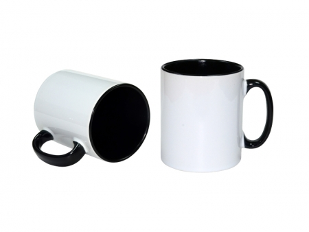 10oz Inner Rim Color Mug(Black)