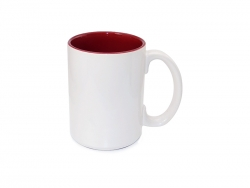 15oz Two-Tone Color Mugs - Red