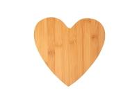 Heart Shaped Bamboo Cutting Board (25.2*25.5*0.9cm) MOQ:1000pcs