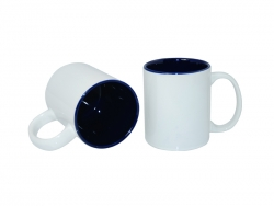 11oz Two-Tone Color Mugs - Blue