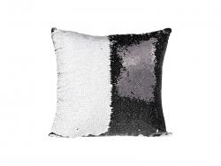 Flip Sequin Pillow Cover (Black/white)