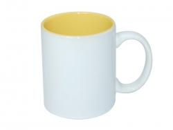 11oz Two-Tone Color Mugs - Yellow