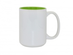 15oz Two-Tone Color Mugs - Light Green