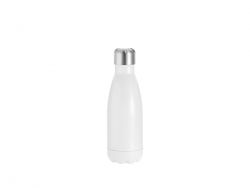 12oz/350ml Stainless Steel Cola Bottle (White)