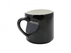 Heart Shape Handled Color Changing Mug(Black)