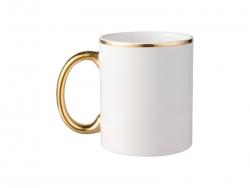 11oz Color Rim Handle Mug(Gold)