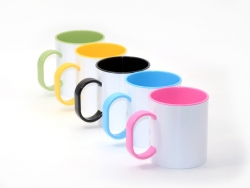 11oz Sublimation Polymer Inner Rim Color Mug