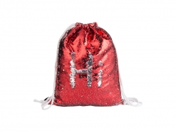 Sequin Drawstring Backpack (Red/Silver, 36*45cm)