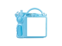 Handle Lunch Boxes (Plastic, Blue)