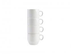 4 Piece 6oz Stackable Mug Set