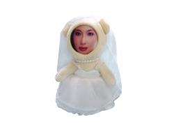 12CM 3D Face Wedding Doll