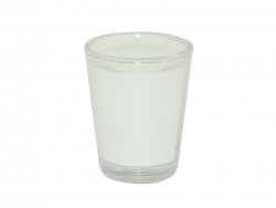 1.5oz Shot Glass Mug with White Patch