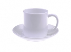 6oz Sublimation Plastic White Mug