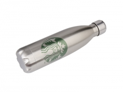 17oz/500ml UV Stainless Steel Coka Shaped Bottle(Silver)