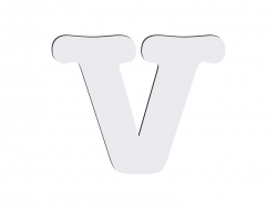 Sublimation HB Letters -V (10*10cm)
