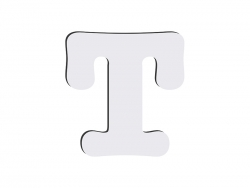 Sublimation HB Letters -T (10*10cm)