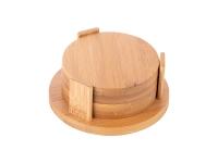 4pcs Round Bamboo Coaster Set (9.5cm)