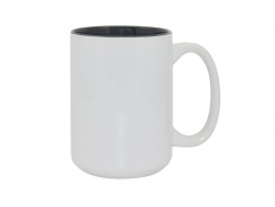 15oz Two-Tone Color Mugs - Black
