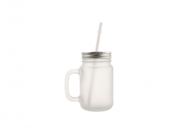 12oz/350ml Mason Jar w/ Straw(Frosted)