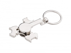Fidget Spinner Key Ring (Dog)