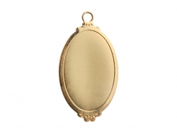 Gold Necklace(Ellipse)