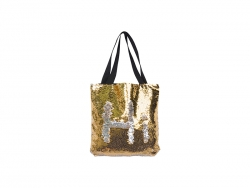 Sequin Double Layer Tote Bag (Gold/Silver, 35*38cm)
