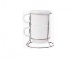 2 piece 6oz Stackable Mug Set