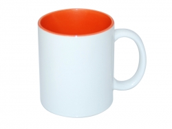 11oz Two-Tone Color Mugs - Orange